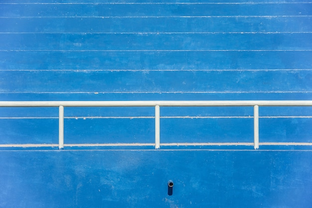 Stadion tribünen - blau