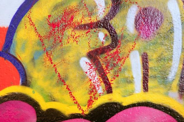 Stadt gemalte bunte städtische straße der wände