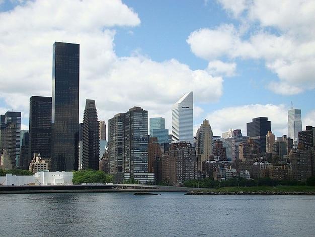 Stadt himmel neubau skyline wolken york city