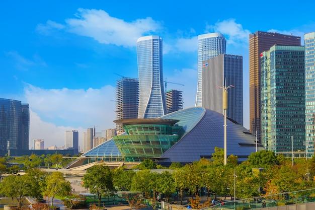 Stadt im freien stadtbild futuristischer transport
