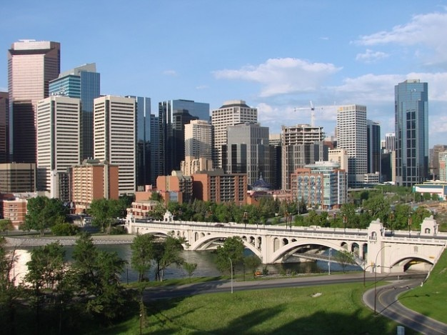 Stadt kan innenstadt städten skyline