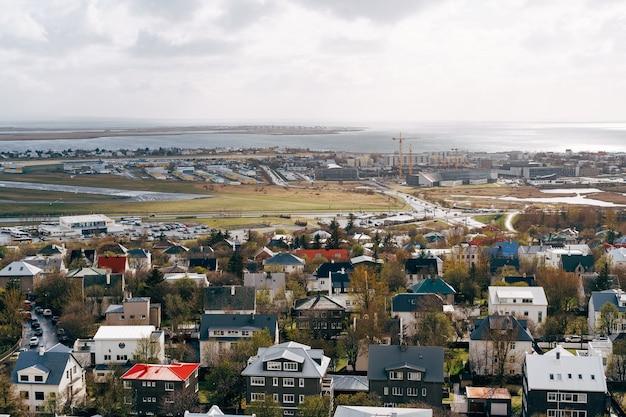 Stadt reykjavik von oben