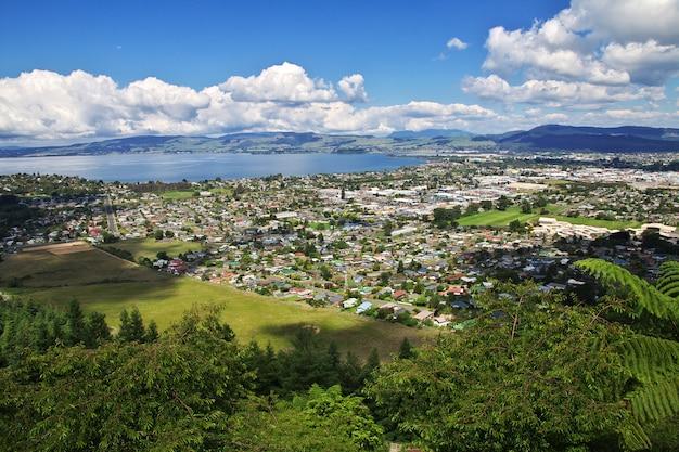 Stadt von rotorua, neuseeland
