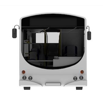 Stadt weiße bus vorlage