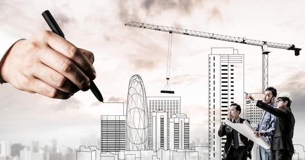 Stadtbau und immobilienentwicklung.