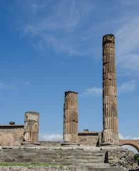 Stadtbild der alten ruinen von pompeji in italien