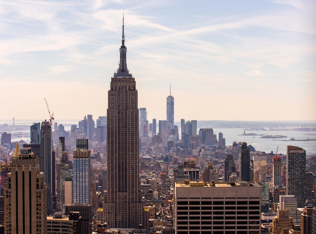 Stadtbild der new yorker stadt