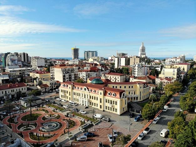 Stadtbild des stadtzentrums von batumi in georgia