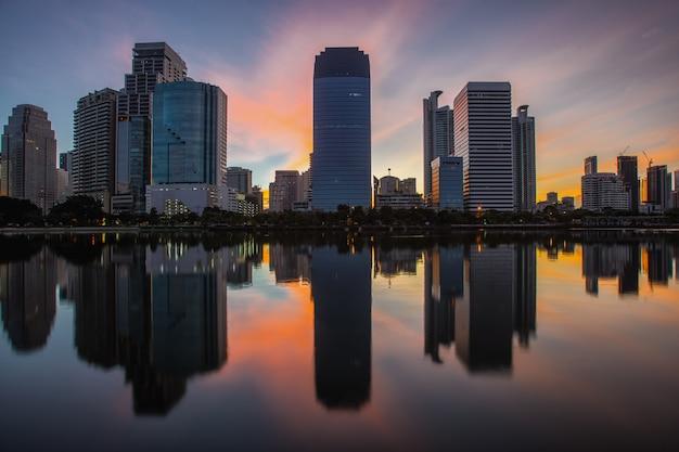 Stadtbild in der mitte von bangkok, thailand