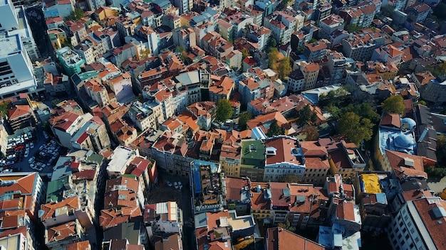 Stadtbild istanbul, türkei. foto aus der vogelperspektive