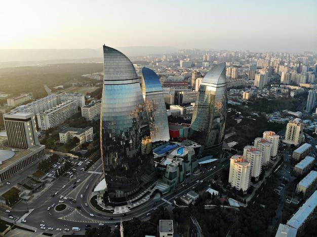 Stadtbild von baku, hauptstadt von aserbaidschan
