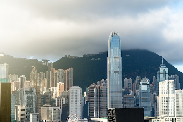 Stadtbild von hong kong stadt
