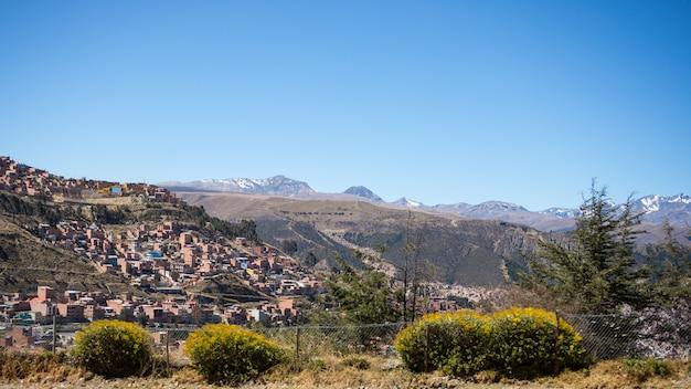 Stadtbild von la paz von el alto, bolivien