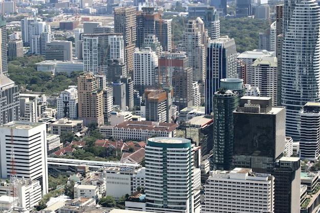 Stadtbild von modernen stadtgebäuden bangkoks