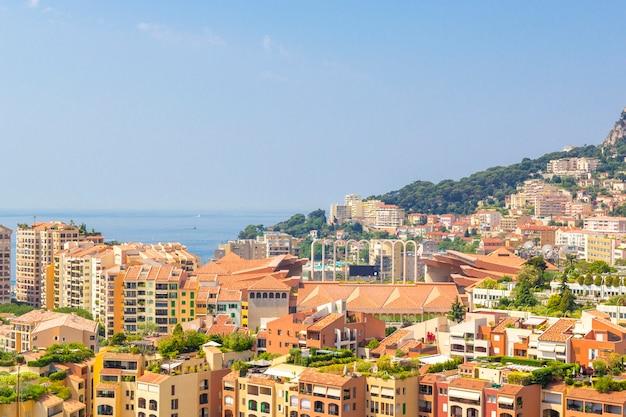Stadtbild von monte carlo im fürstentum monaco, südfrankreich
