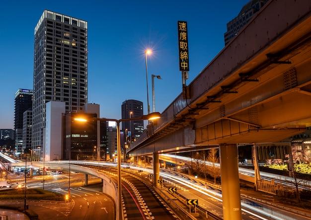 Stadtlandschaft der stadt japan
