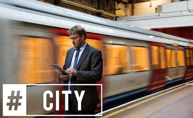 Stadtleben einfache moderne lebende ikone