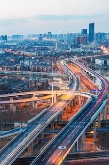 Stadtverkehrsansicht