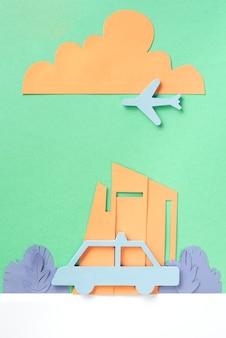 Stadtverkehrskonzept mit flugzeug