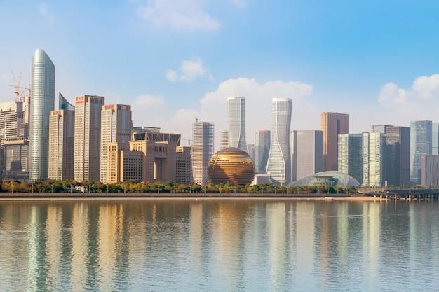 Städtische architekturlandschaft und skyline