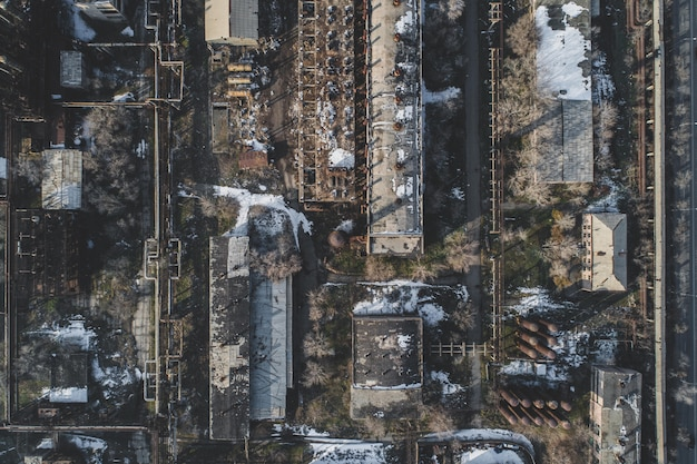Städtische verlassene fabrik