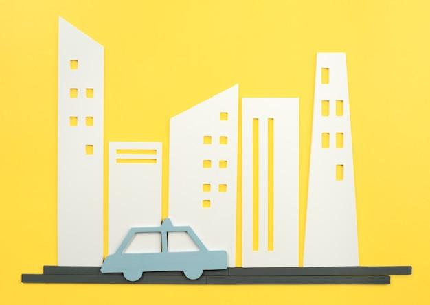 Städtisches verkehrskonzept mit auto