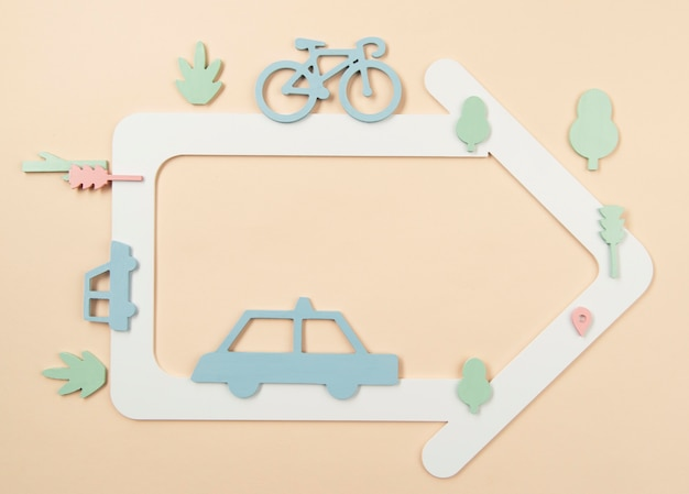 Städtisches verkehrskonzept mit autos