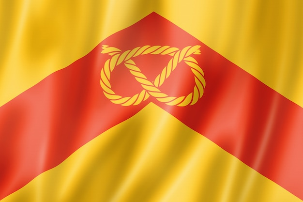 Staffordshire county flagge, großbritannien