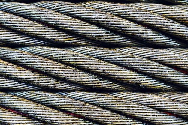 Stahlseil-nahaufnahmefoto.