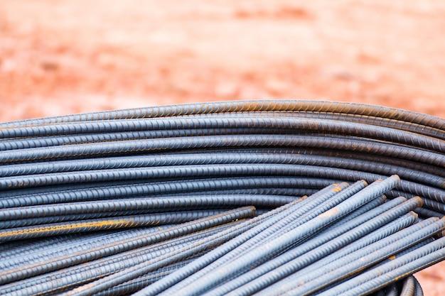 Stahlstab für bauarbeiten, mörtel in struktureller basis, infrastruktur