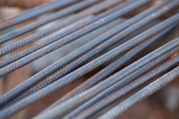 Stahlstäbe oder -stäbe, die zum betonieren verwendet werden