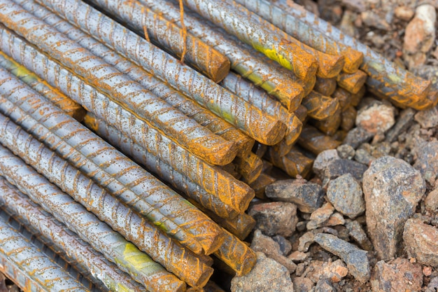 Stahlstangen im bau verwendet, stahlstangen