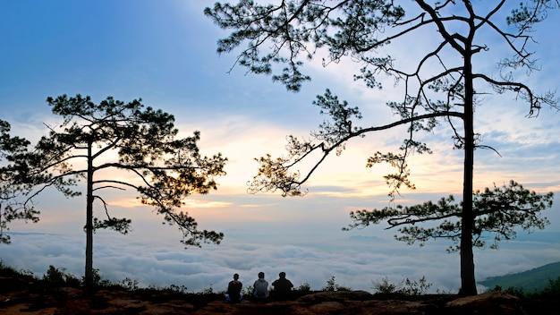 Standpunkt am nationspark von thailand