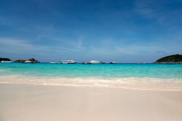 Standpunktstrand-markstein andaman-similan strand phuket thailand