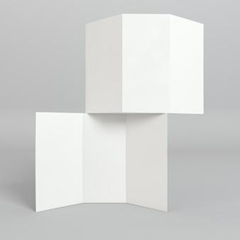 Stapel der dreifach gefalteten broschüren-druckschablone