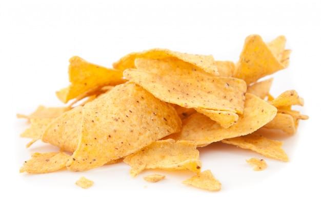 Stapel dreieckige chips