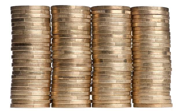 Stapel euro-geld isoliert auf weiß