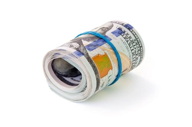 Stapel geld dollar isoliert
