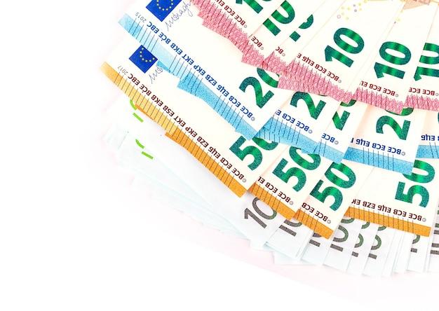 Stapel geld euro. stock foto
