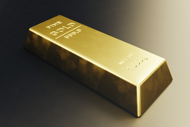 Stapel nahaufnahme goldbarren, gewicht der goldbarren 1000 gramm konzept von reichtum und reserve. erfolgskonzept in wirtschaft und finanzen. 3d-rendering