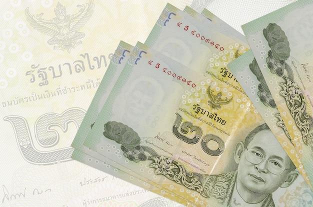 Stapel thailändischer baht-banknoten