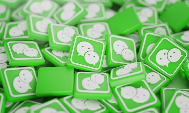 Stapel von 3d-whatsapp-logos