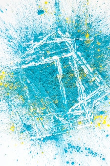 Stapel von aquamarine und gelben hellen trockenen farben