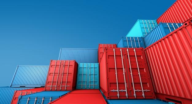 Stapel von containern box,