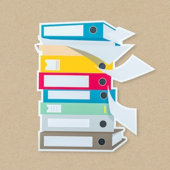 Stapel von dokumentordnern symbol isoliert
