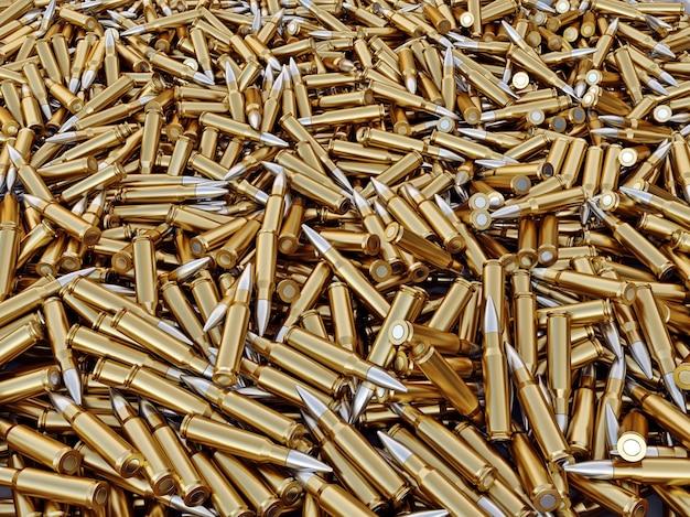 Stapel von gewehrkugeln