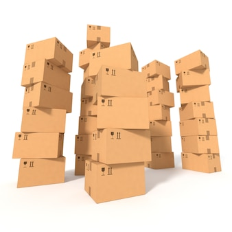 Stapel von kartons