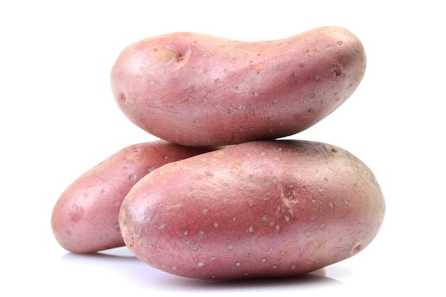 Stapel von roten kartoffeln nahaufnahme