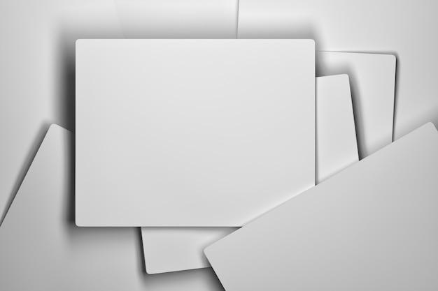 Stapel weiße karten
