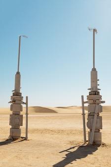 Star wars-filmset des planeten tatooine eingebaut
